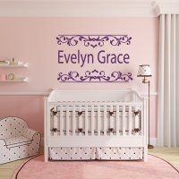 Personalized Name Art - Girls Room Wall Decals - Vinyl ...