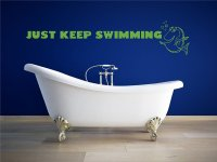 Just Keep Swimming Wall Decal