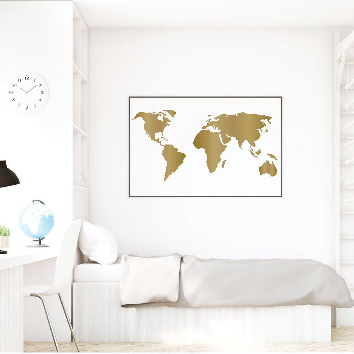 World Map Decorations World Map Vinyl Wall Art Perfect Decoration For Home Or Classroom