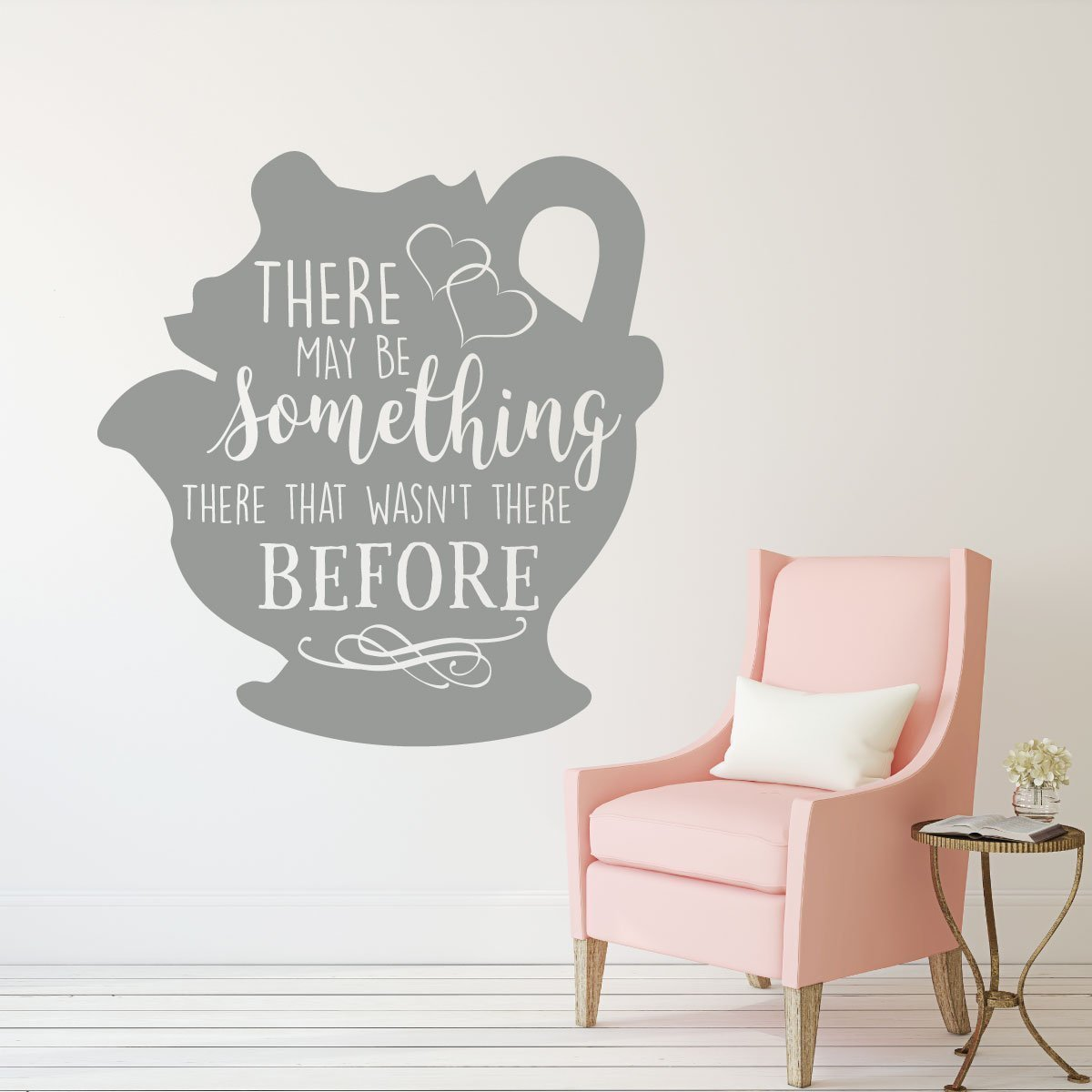 Girls Pink Bedroom Wallpaper Mrs Potts Decal Beauty And The Beast Wall Decoration