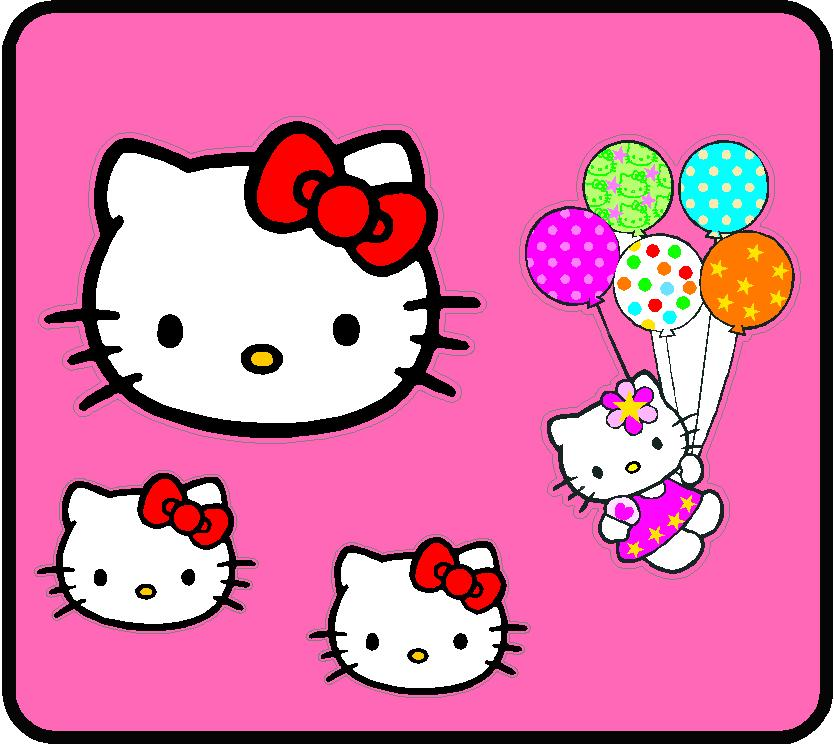 Hello Kitty Küchenmaschine Hello Kitty Color Wall Graphic Kit - Custom Wall Graphics