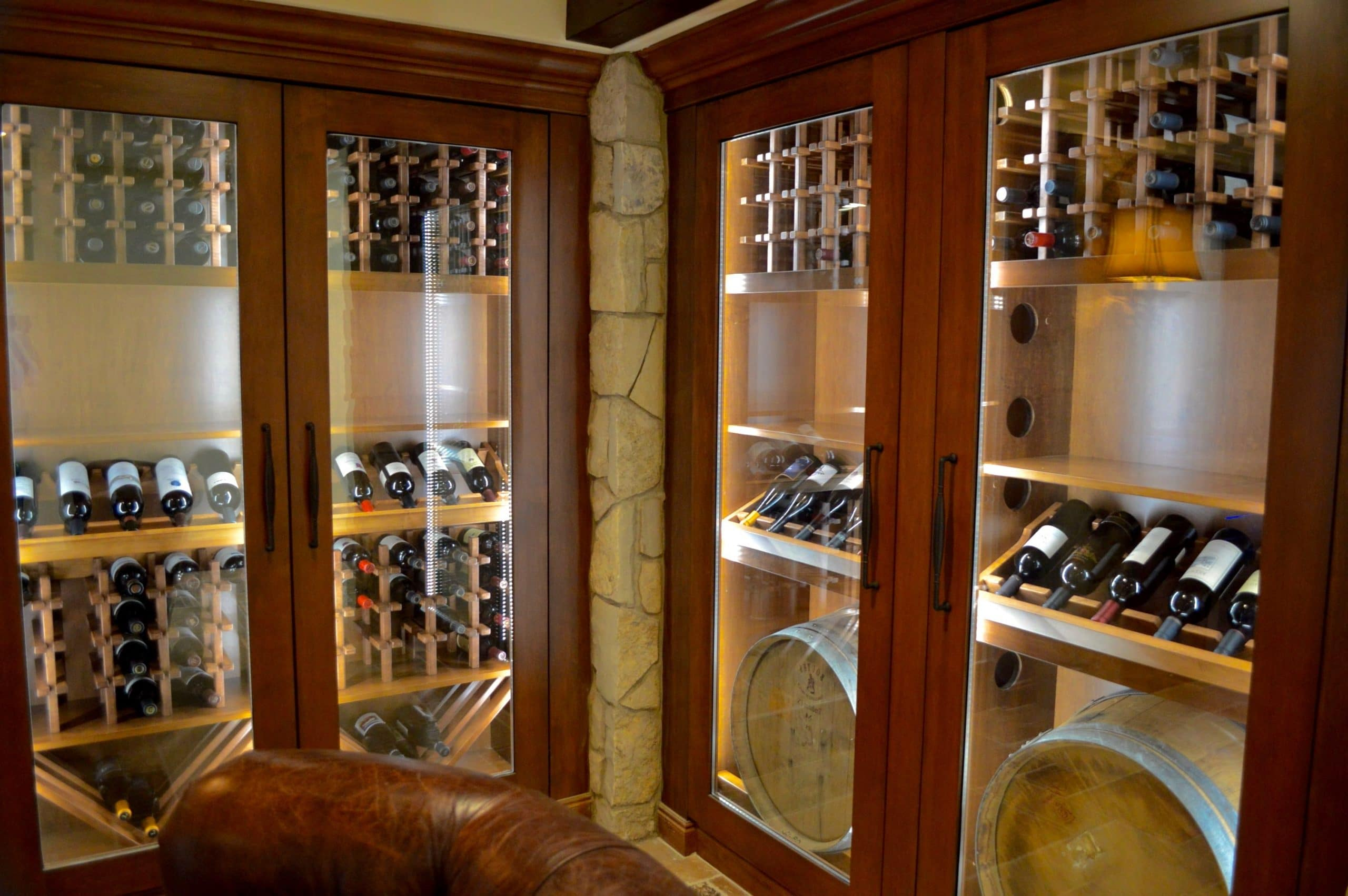 Small Wine Storage Cabinets Chic Ideas For A Stylish Residential Custom Wine Cellar Design