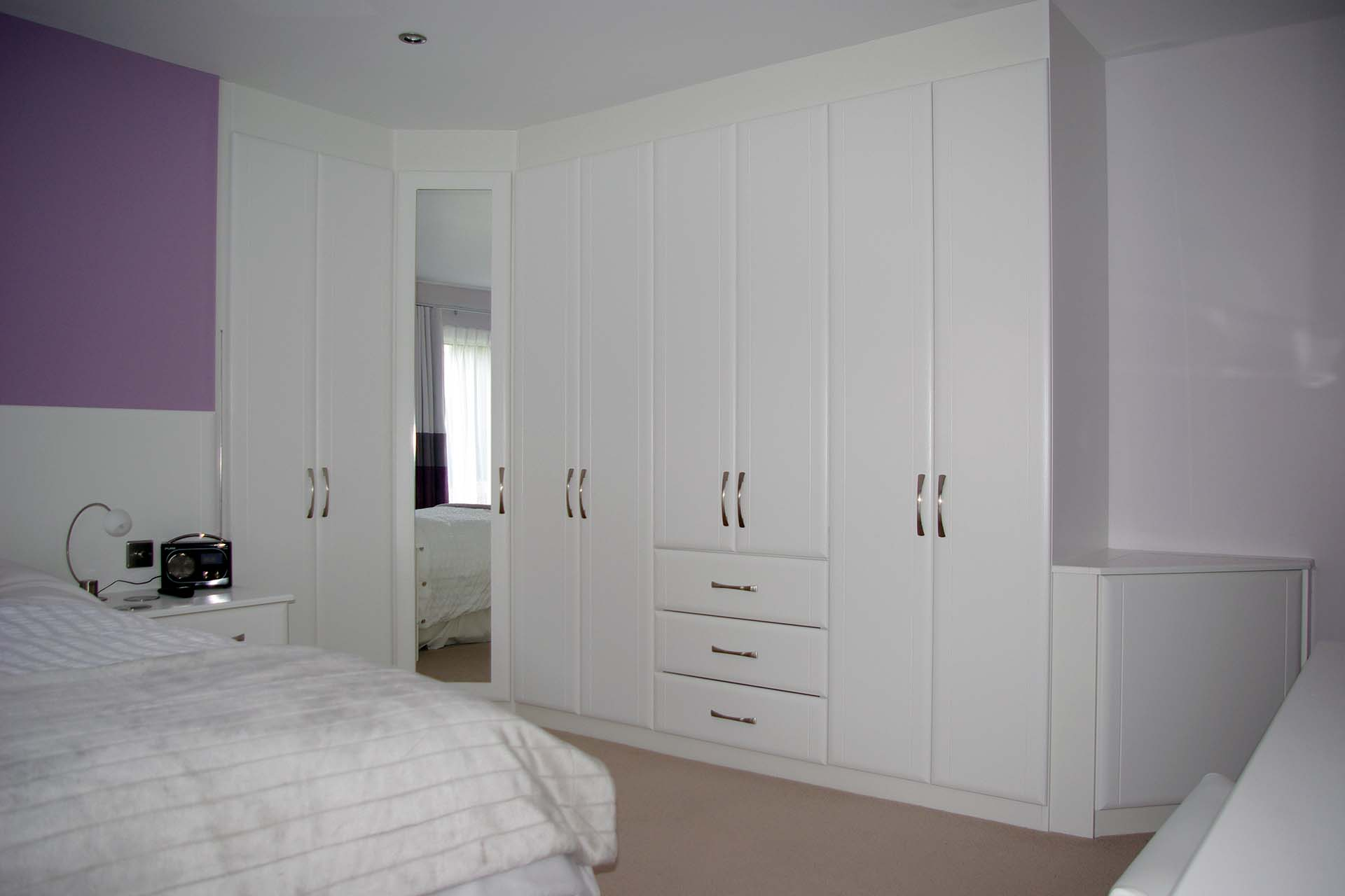 White Bedroom Wardrobes Fitted Bedroom Furniture Custom Made Traditional To