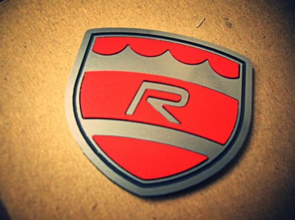 Volvo R Shield Badge