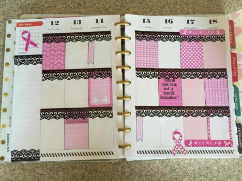 free printable cancer awareness stickers used in happy planner