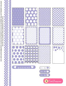 Polka Dotted Stickers in Lavender Color