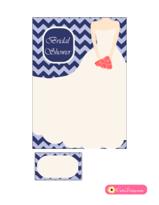 Bridal Shower Invitation in Blue Color