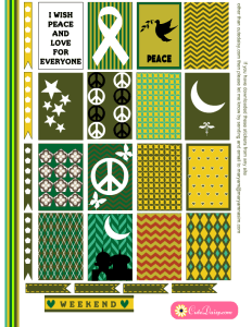 Free Printable Islamic Peace and Love Stickers for Happy Planner
