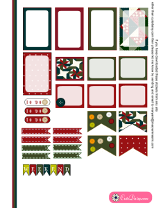 Christmas Quilt Inspired Planner Stickers Page 2