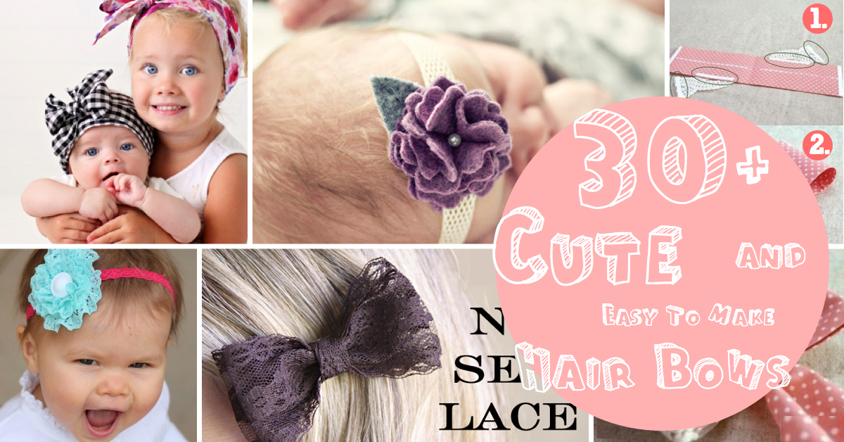 30+ Cute and Easy To Make Hair Bows \u2013 Cute DIY Projects