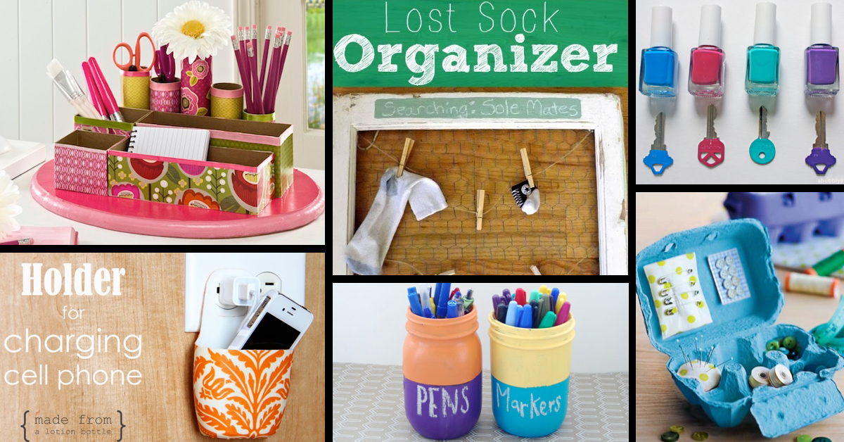 50+ Useful Organizing Tips For A Squeaky Clean House! \u2013 Cute DIY