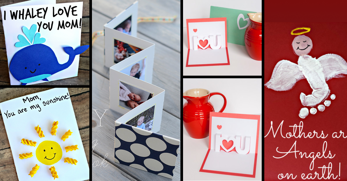 30+ Cute And Creative DIY Mother\u0027s Day Cards Every Child Can Make