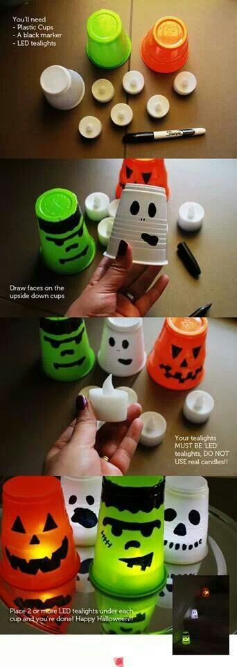 Spooky Halloween Candle Light Cups!