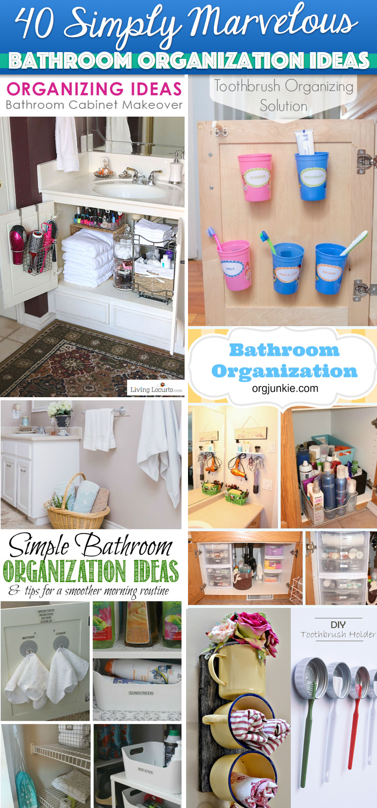 40 Simply Marvelous Bathroom Organization Ideas To Get Rid Of All That Clutter Cute Diy Projects