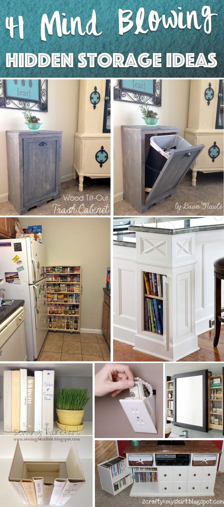 41 Mind Blowing Hidden Storage Ideas Making A Clever Use Of Your Household Space Cute Diy Projects
