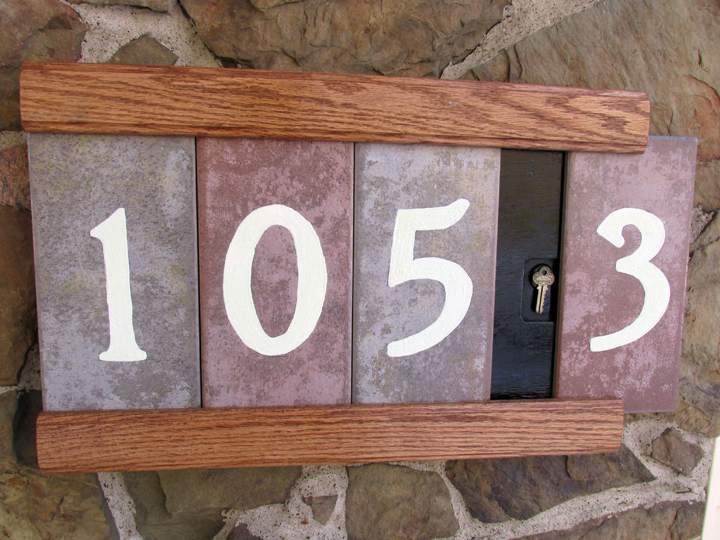 25 Best House Number Plaques Ideas On Pinterest Auto Electrical Ouku Th8829ga Wire Harness Diy Plaque