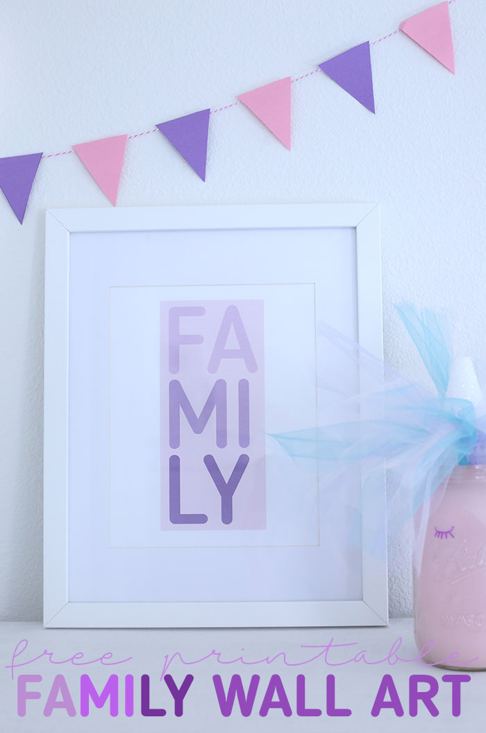 Celebrate Family with Free Printable Wall Art Cutefetti