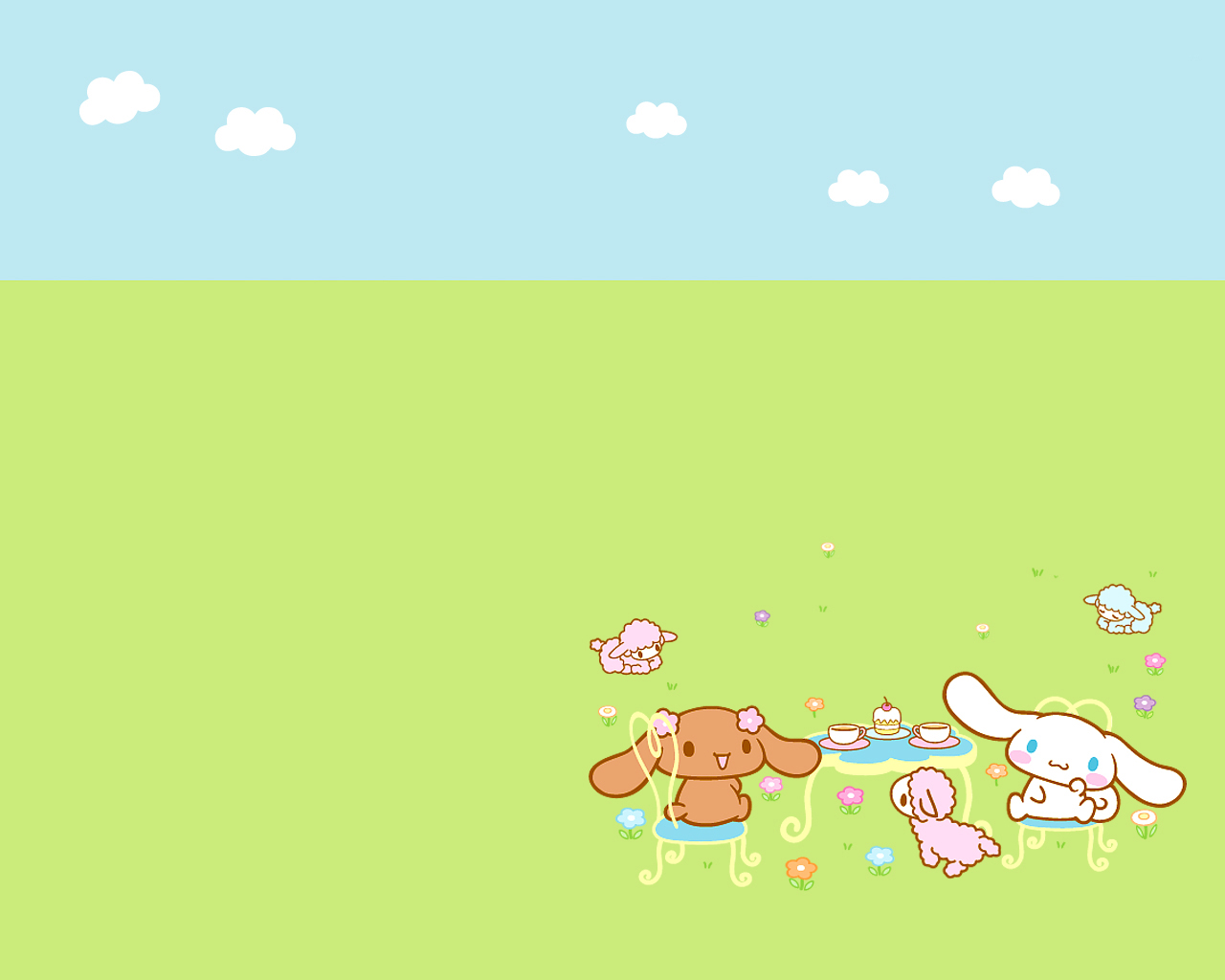 Cute Anime Characters Wallpapers Picnic Cinnamoroll Cute Kawaii Resources