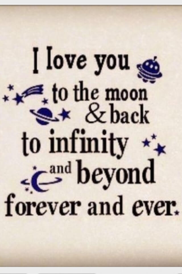 Cute Romantic Love Quotes Wallpaper I Love You To The Moon And Back Quotes Amp Poems
