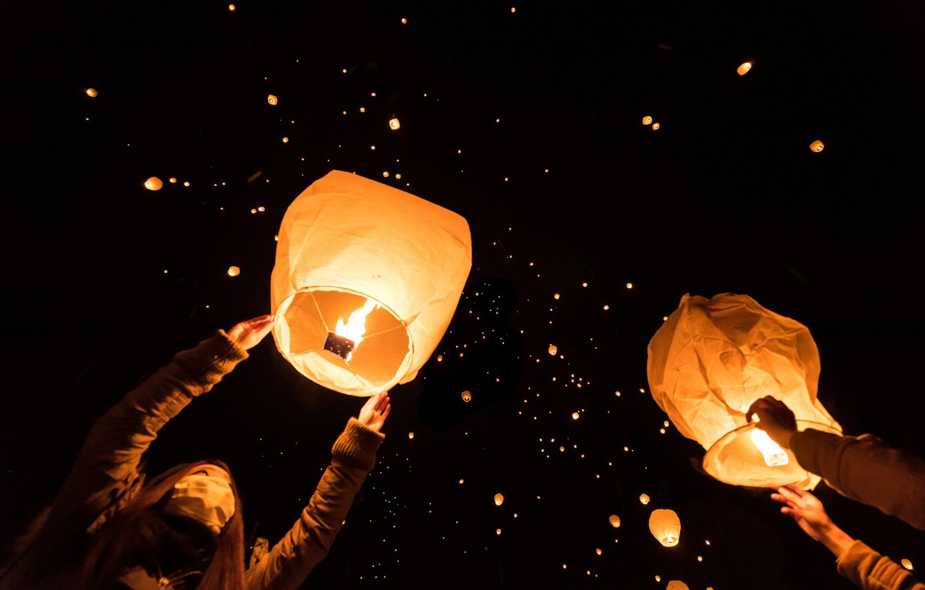 Sky Lantern Wallpaper Posted By Christopher Johnson