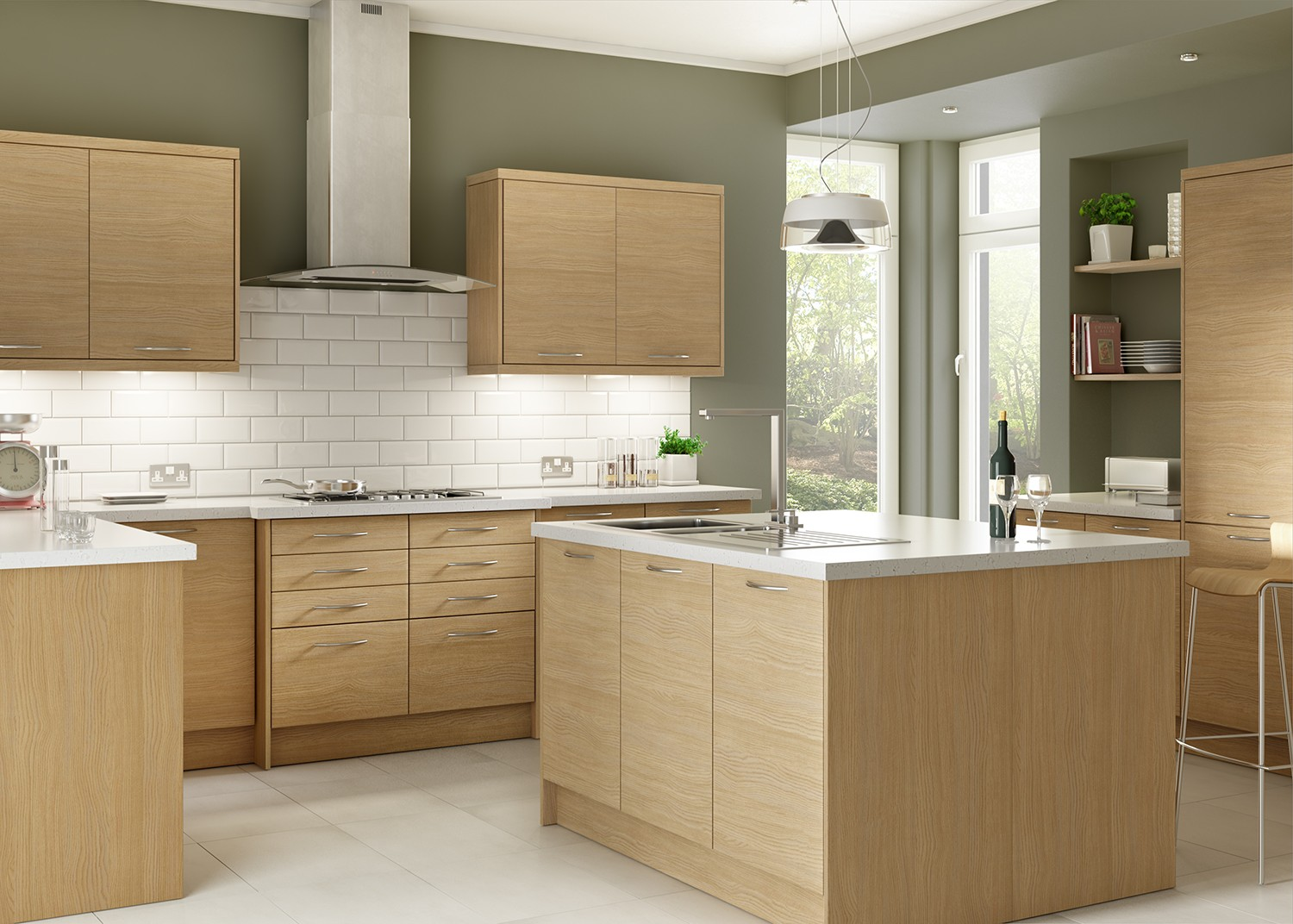 Kitchen Cupboard Doors 50 X 70 Libson Oak Natural And Warm Kitchen Units