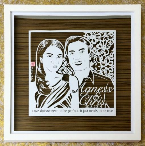 Cutteristic - Wedding Gift Agnes Chris 1