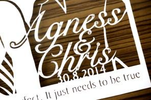 Cutteristic - Wedding Gift Agnes Chris 4