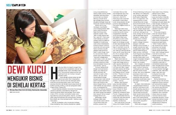 Cutteristic - SWA Magazine XXXI January 2015, Mengukir Bisnis di Sehelai Kertas 1