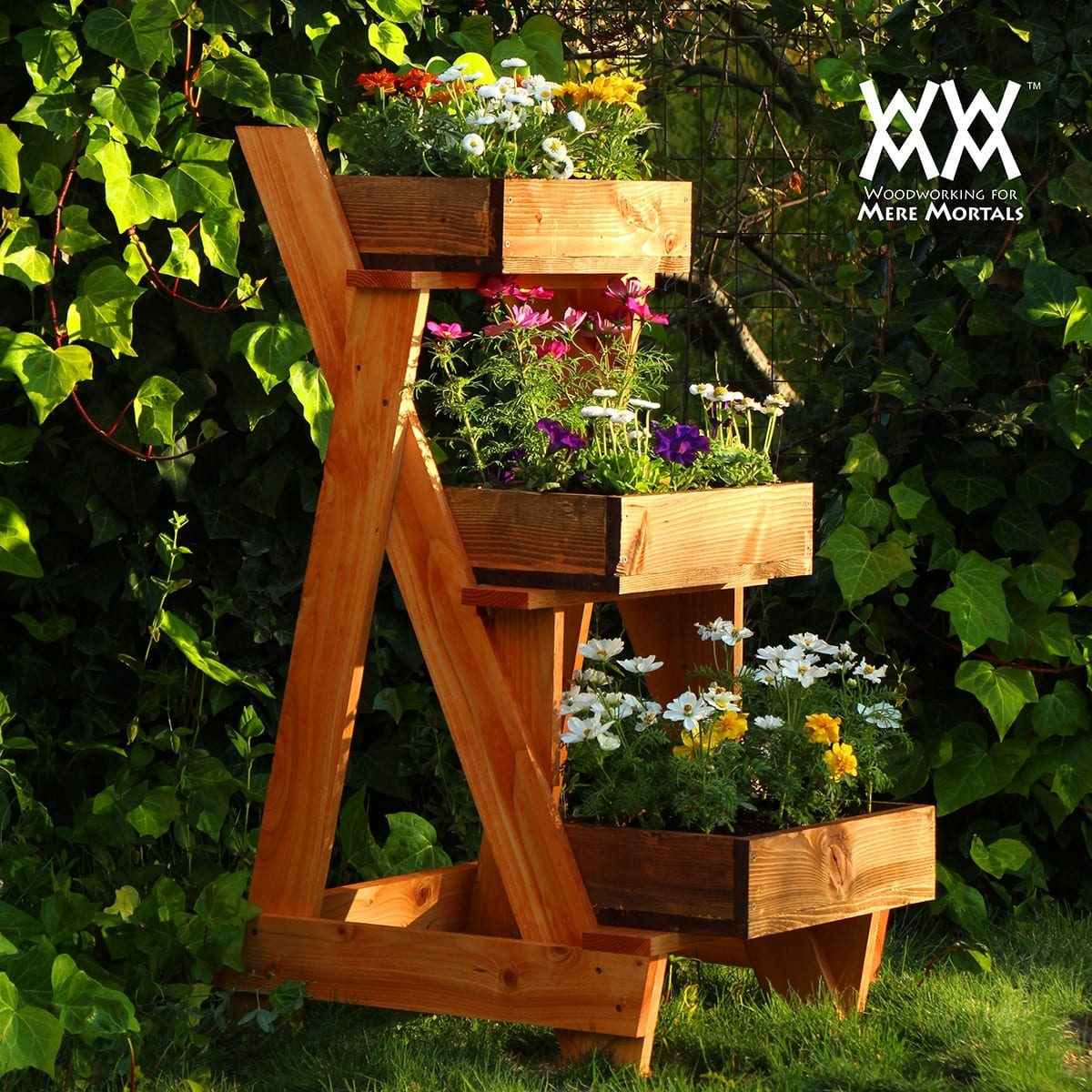 Three Tier Flower Pots 24 Woodworking Project Ideas To Enrich Your Garden Cut