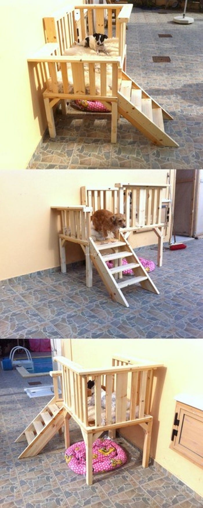 Double Dog Bed 16 Pallet Dog Bed Diy Plans Cut The Wood