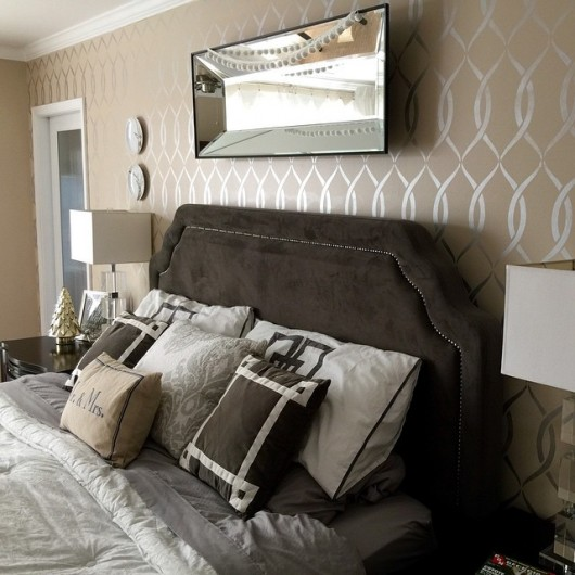 Wallpaper Accent Wall Refresh Your Master Bedroom With A Stencil