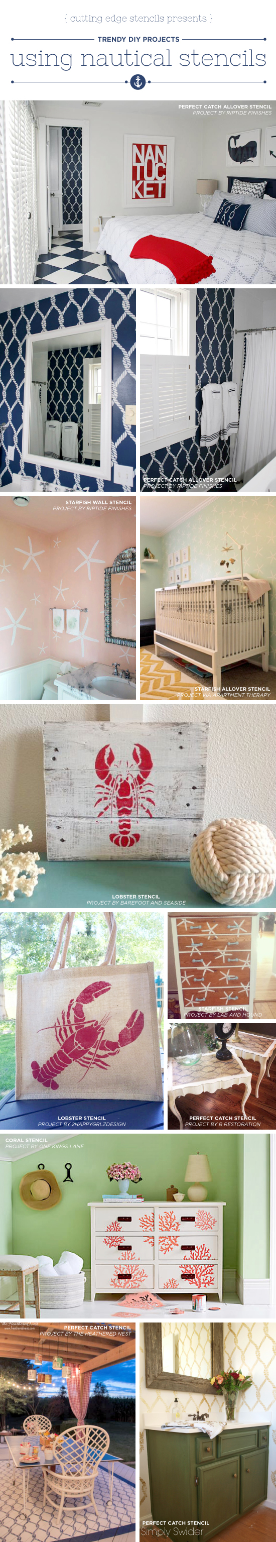 Nautical House Decor Trendy Diy Projects Using Nautical Stencils