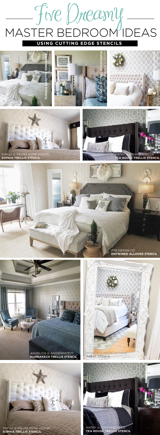Accent Wall Ideas For Master Bedroom Five Dreamy Master Bedroom Ideas Using Stencils