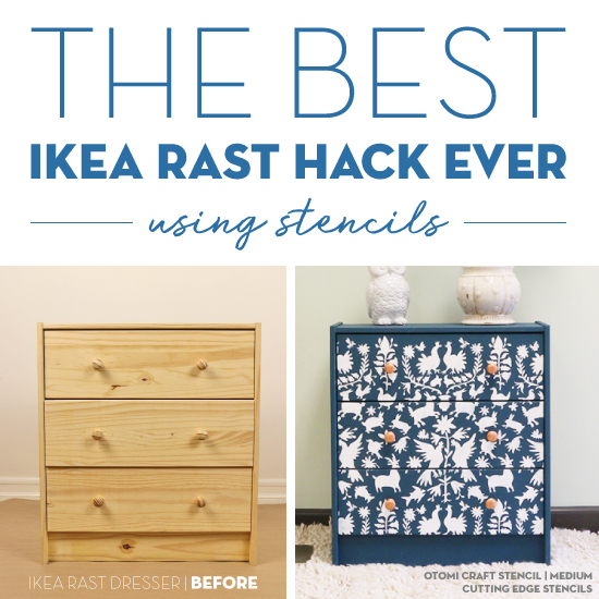 Ikea Unfinished Dresser The Best Ikea Rast Hack Ever Using Stencils! - Stencil