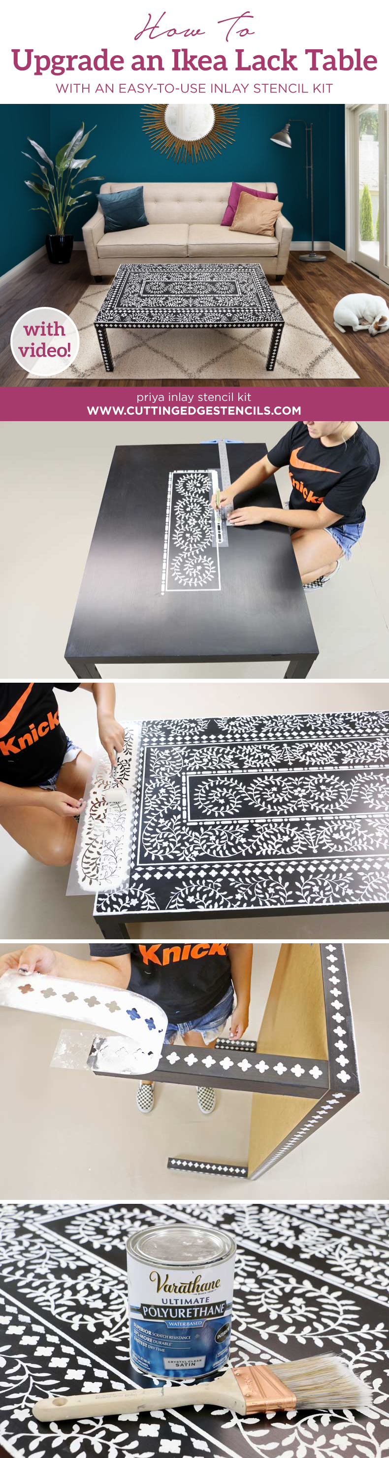 Ikea Lack Upgrade How To Upgrade An Ikea Lack Table With An Easy To Use Inlay Stencil