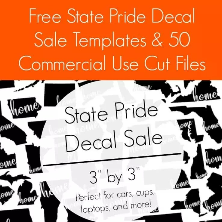 Free State Pride Decal Sale Templates  50 Free Cut Files - Cutting