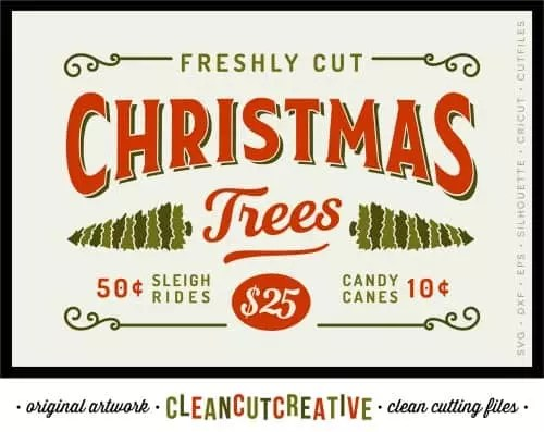 Free Christmas Vintage Santa SVG Cut File - Cutting for Business