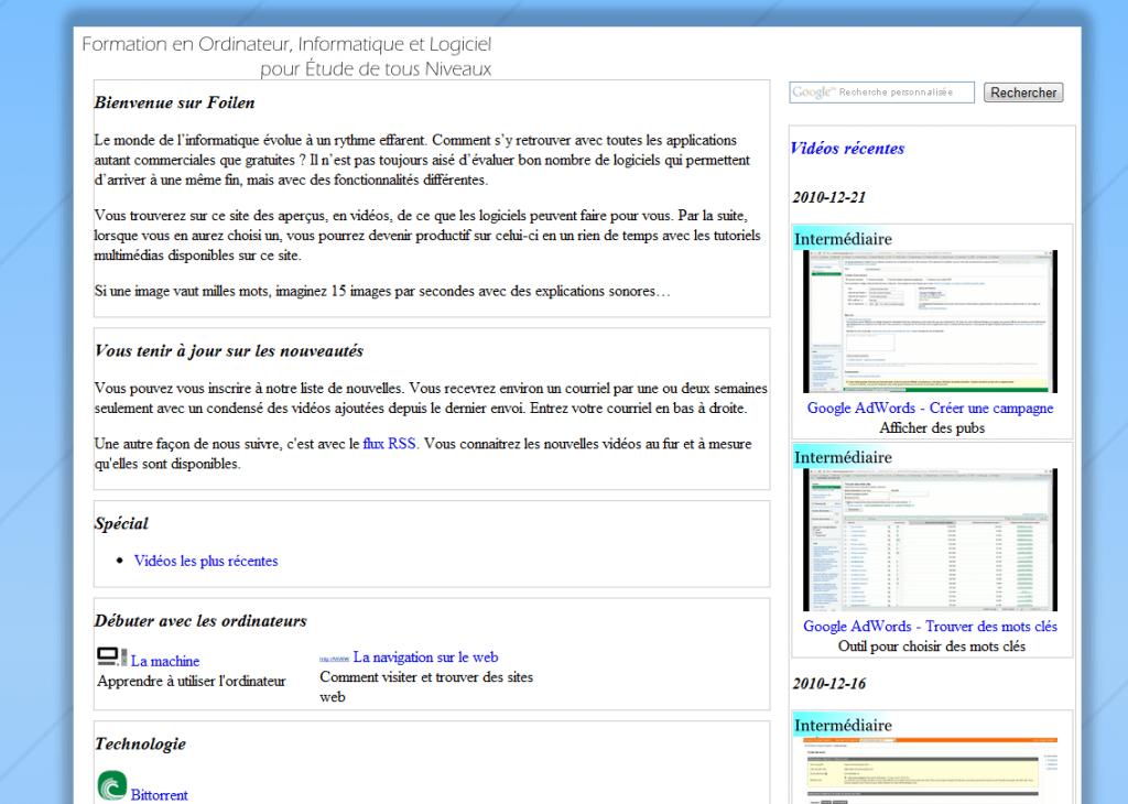 niveaux logiciel cv
