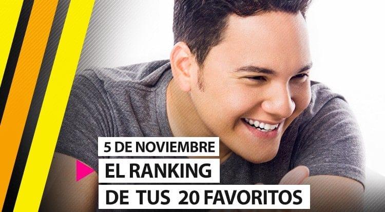 """La lista de """"Tus 20 favoritos"""" 5 de Noviembre"""