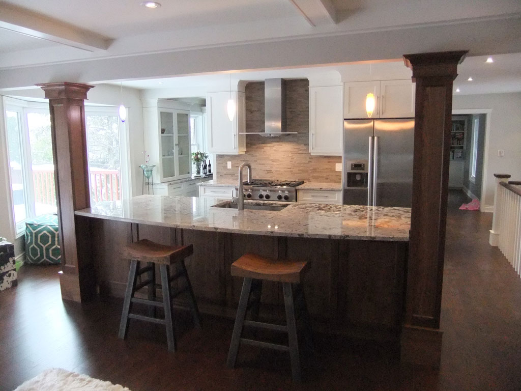 Kitchen Island With Columns kitchen island designs with columns