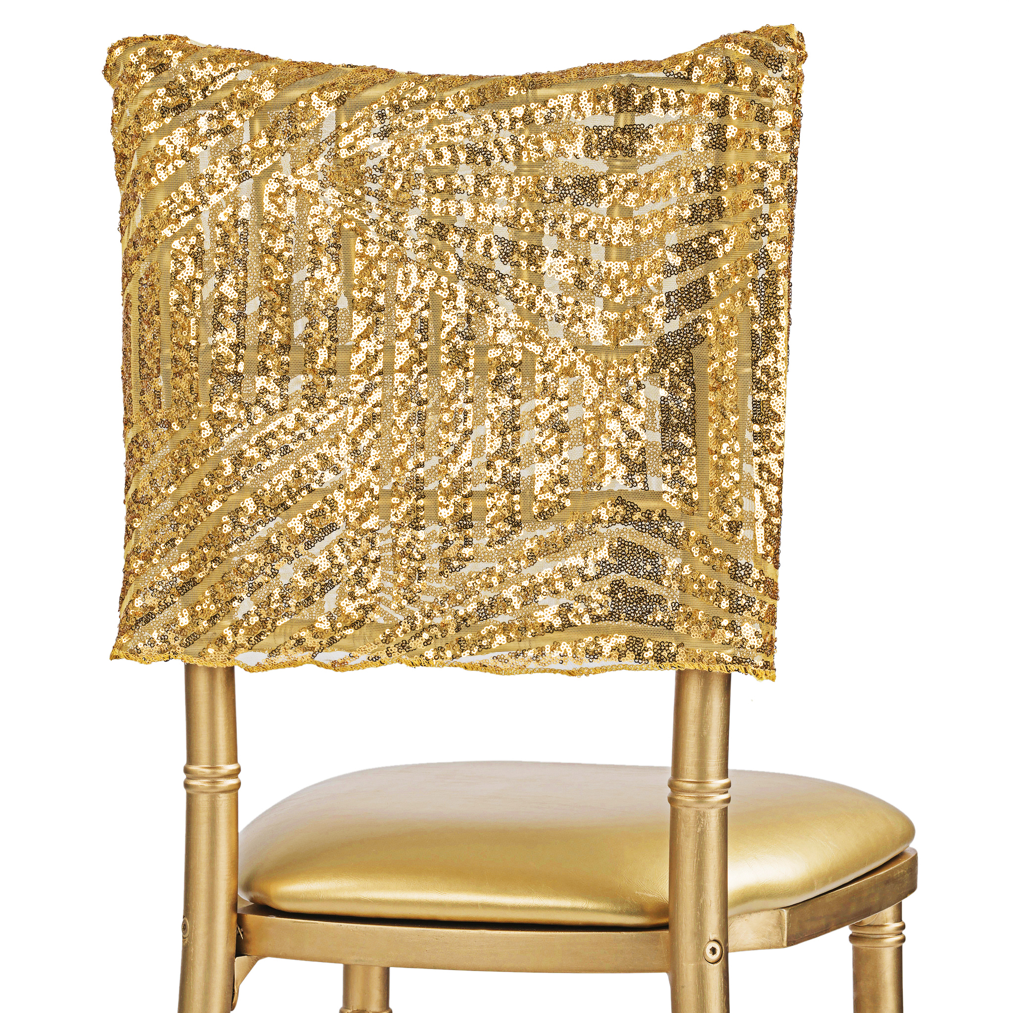Art Deco Home Accessories Geometric Glitz Art Deco Sequin Chiavari Chair Cap 16