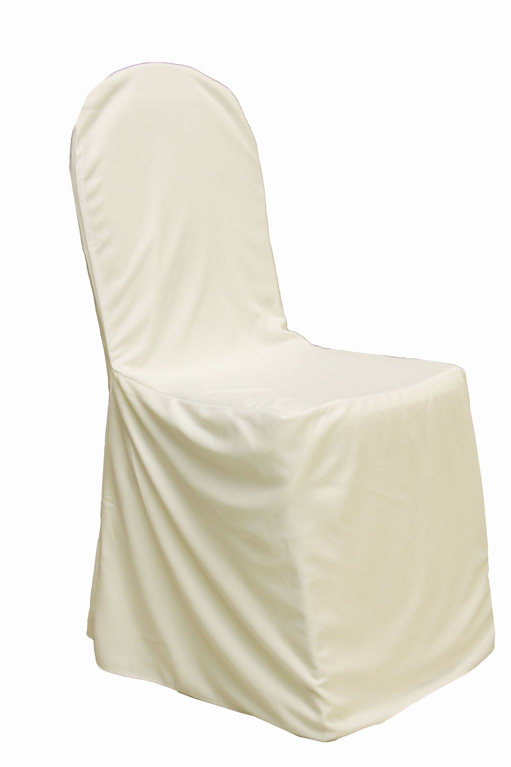 Chair Cover Scuba Stretch Banquet Chair Cover Ivory Clearance