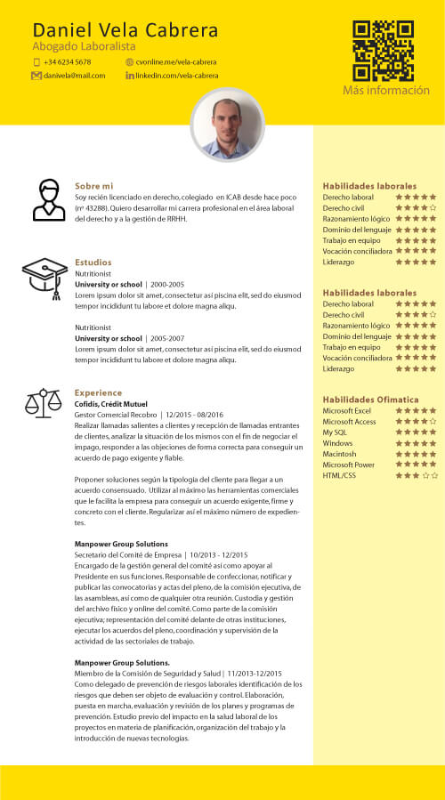 create cv online for students