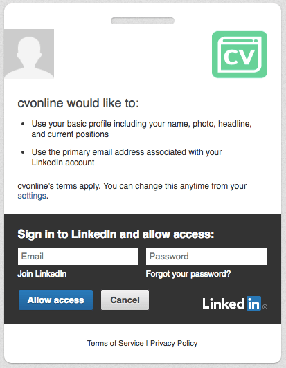 generate pdf cv from linkedin