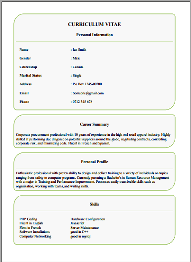 create a cv free download