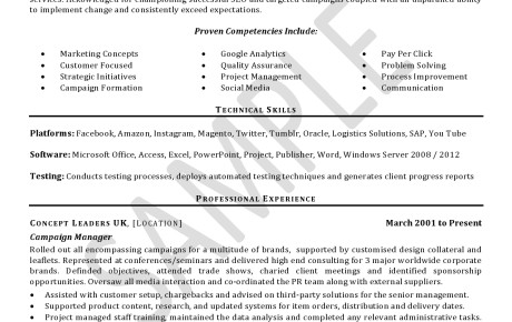 CV/Resume Samples - Click on document to view in full - cv document