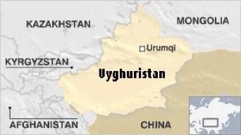 Uyghuristan Map