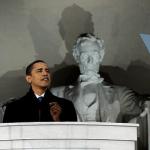 barack+obama+lincoln+memorial