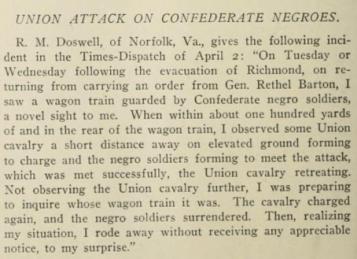 black confederates, appomattox