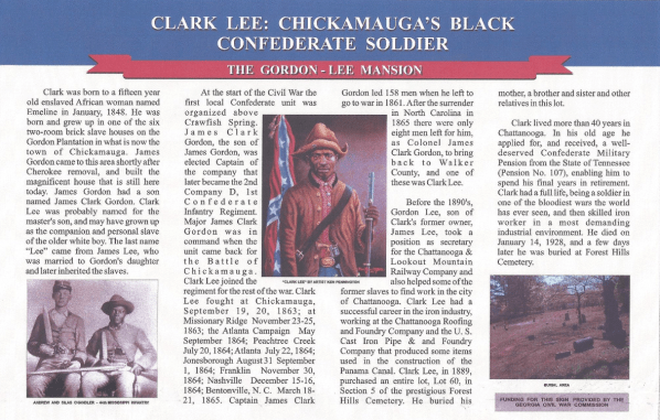 black confederate, clark lee